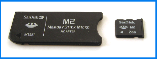 Memory Stick Micro (M2) to Mini adapter