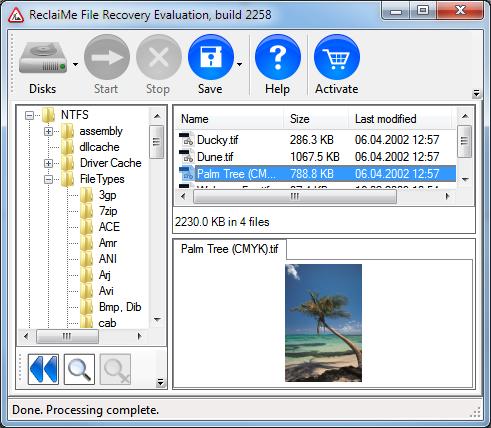 Unformat a hard drive